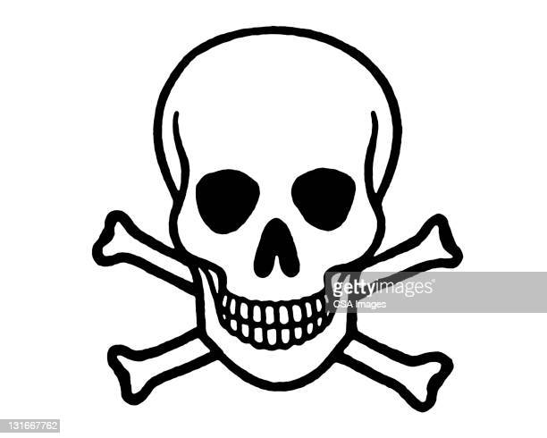 skull and crossbones - poisonous stock illustrations