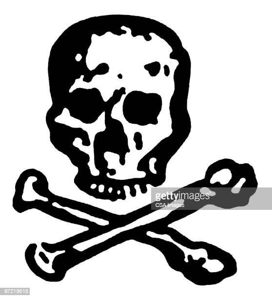 skull and crossbones - death stock illustrations