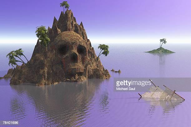 skull island - kong: skull island stock illustrations