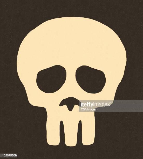 skull on black background - spooky stock illustrations