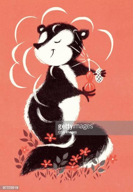 ilustraciones, imágenes clip art, dibujos animados e iconos de stock de mofeta - olores agradables