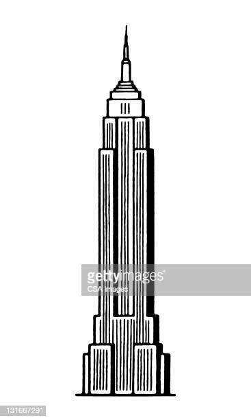 skyscraper - tall high stock illustrations