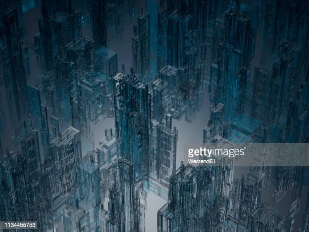 Skyscrapers, 3D Rendering