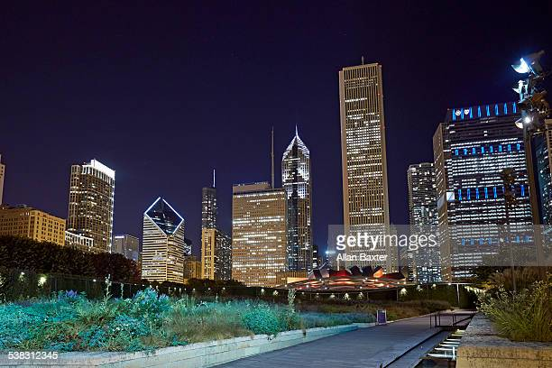 Skyscrapers along Millennium Park, Chicago