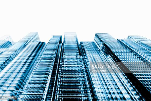 cgi skyscrapers - low angle view stock illustrations