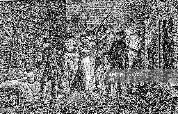 Slave catchers capture an escaped slave.