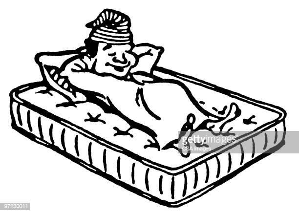 sleep - mattress stock illustrations, clip art, cartoons, & icons