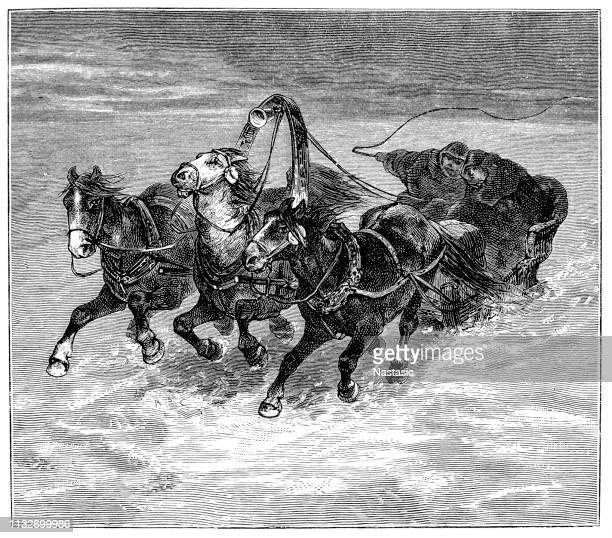 Sleigh ride in Siberia