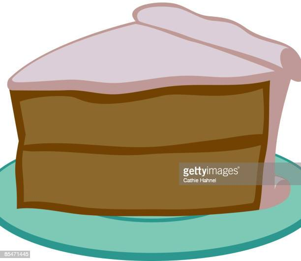 a slice of cake - dessert topping stock illustrations, clip art, cartoons, & icons
