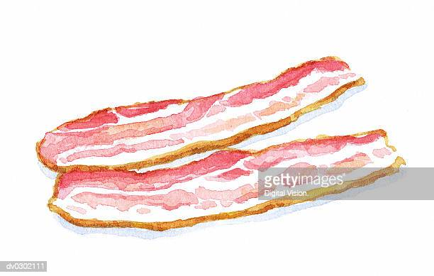 slices of bacon - meat stock illustrations