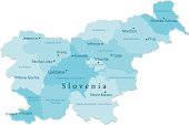 Slovenia Vector Map Regions Isolated