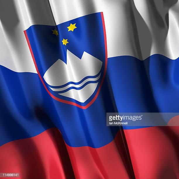 slovenian flag - スロベニア国旗点のイラスト素材/クリップアート素材/マンガ素材/アイコン素材