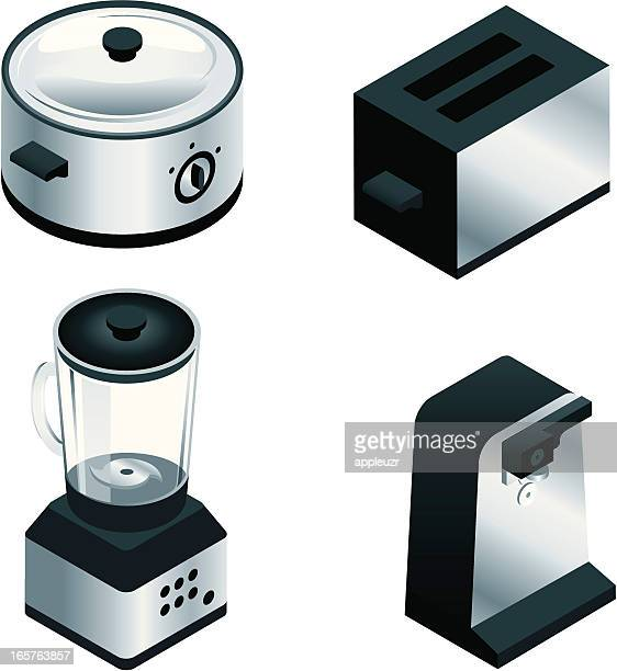 Small Isometric Kitchen Appliances
