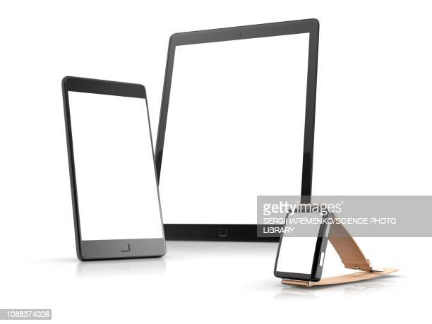 smart devices, illustration - タブレット端末点のイラスト素材/クリップアート素材/マンガ素材/アイコン素材