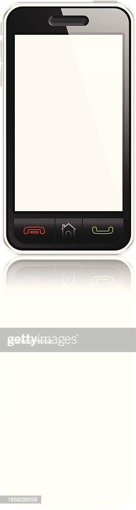 Smart phone blank screen isolated : stock illustration