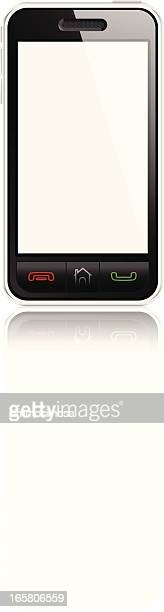 smart phone blank screen isolated - blank screen stock illustrations, clip art, cartoons, & icons