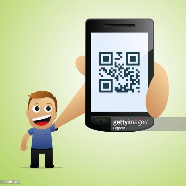 Smartphone con lector QR