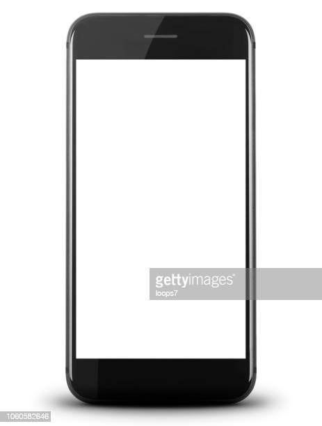 smartphone with white screen - blank screen stock illustrations, clip art, cartoons, & icons