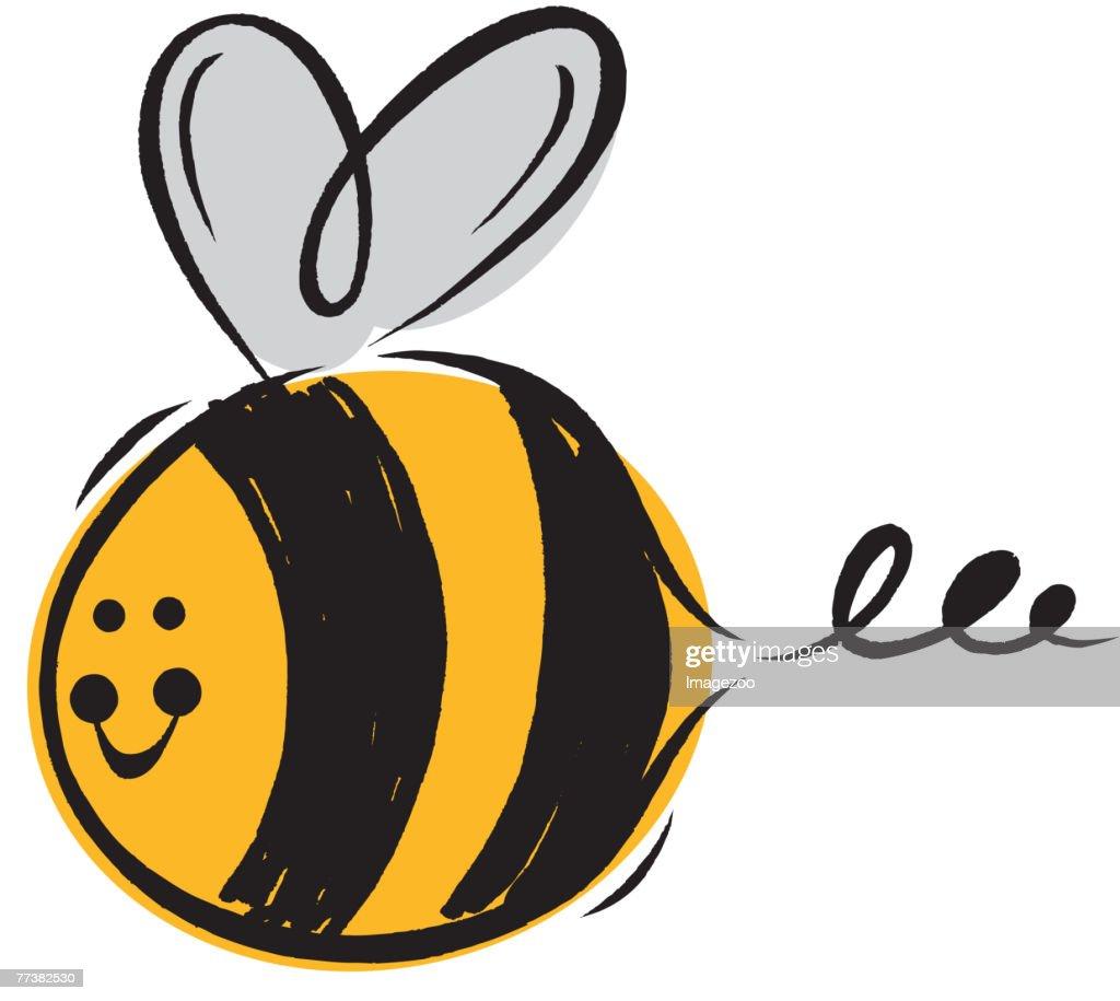 smiling bumblebee : Vector Art