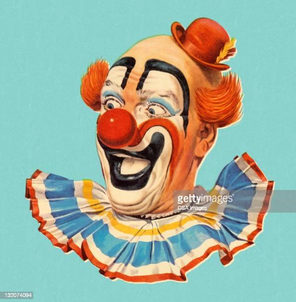 Souriant tête de Clown plan