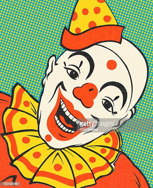 smiling clown - human mouth stock illustrations, clip art, cartoons, & icons