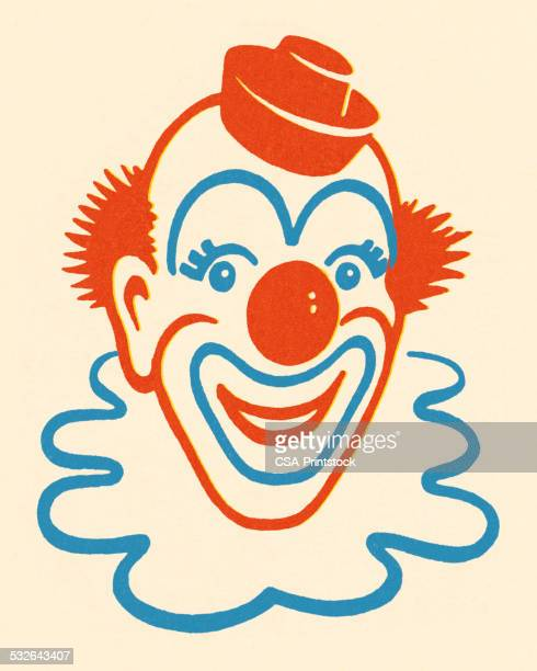 illustrations, cliparts, dessins animés et icônes de souriant clown - clown