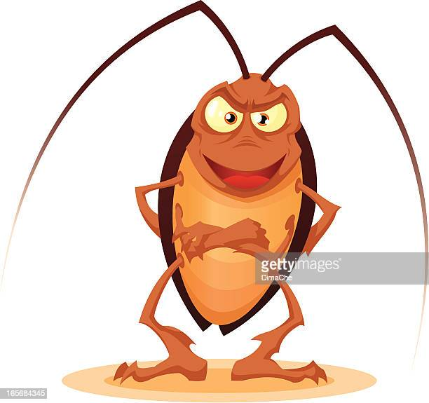 Smiling cockroach
