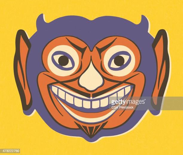 ilustrações de stock, clip art, desenhos animados e ícones de sorridente devil - cavanhaque