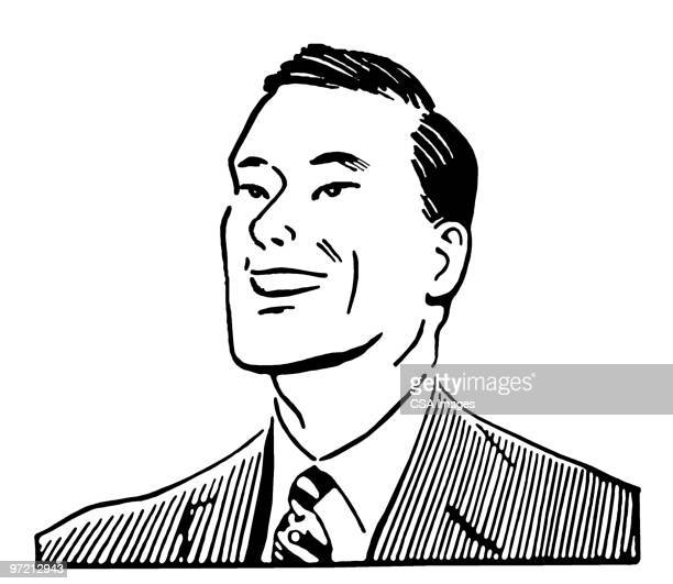 smiling man - one young man only stock illustrations