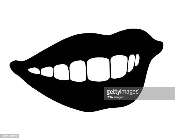 smiling mouth - smiling stock illustrations, clip art, cartoons, & icons