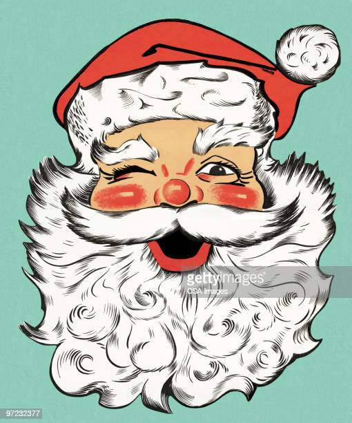smiling santa claus - santa claus stock illustrations
