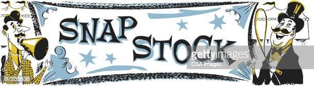 snapstock banner - barker stock illustrations, clip art, cartoons, & icons