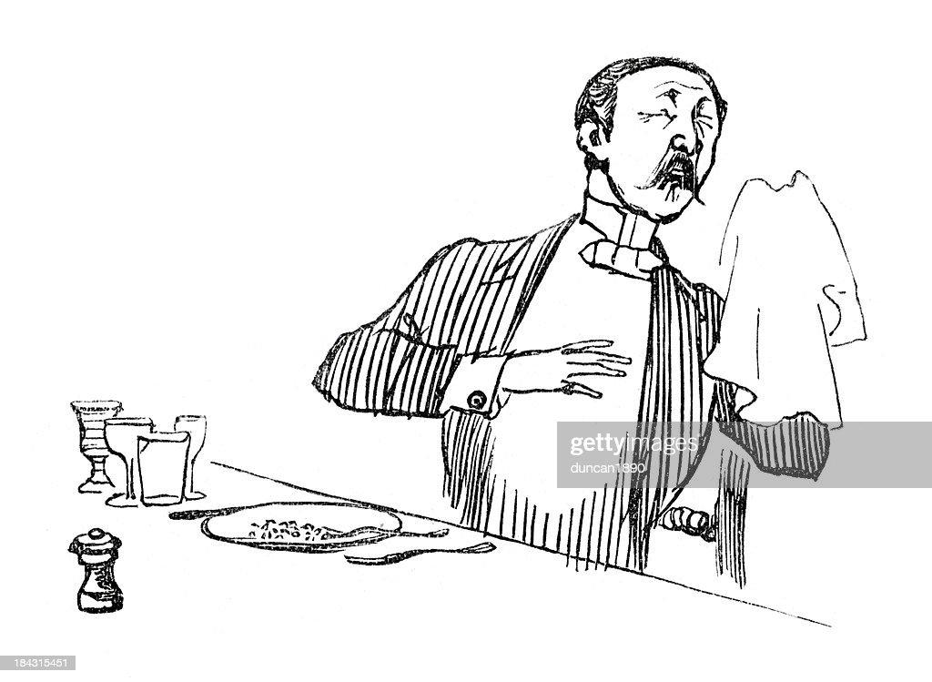 Sneezing : stock illustration
