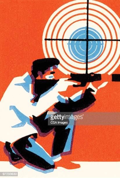 sniper - sports target stock illustrations