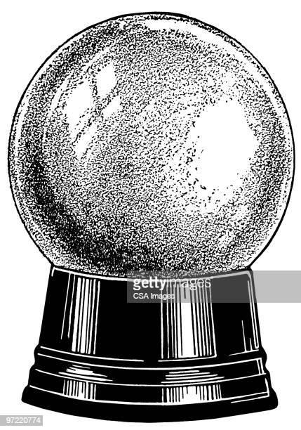 snow globe - magical equipment stock illustrations, clip art, cartoons, & icons