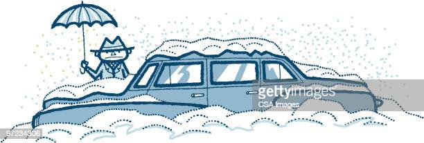 snowed in - buried stock illustrations, clip art, cartoons, & icons