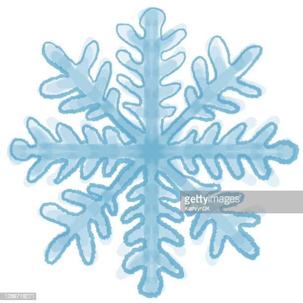 snowflake drawing - kathrynsk stock illustrations