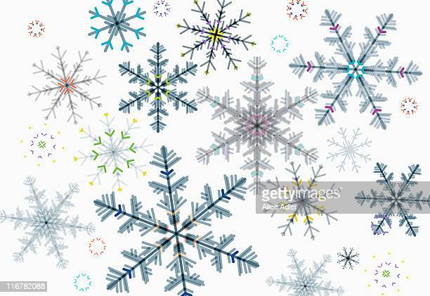 snowflakes - intricacy stock illustrations