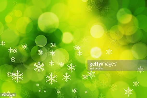 snowflakes on a green background - atmospheric mood stock illustrations, clip art, cartoons, & icons