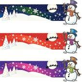 Snowman Christmas Banner
