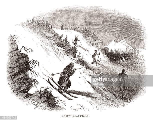 Snow-skaters (skiing)