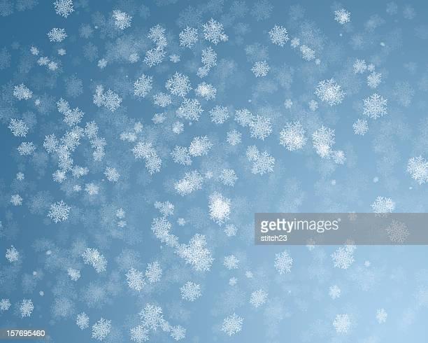 stockillustraties, clipart, cartoons en iconen met snowy background - sneeuwvlok