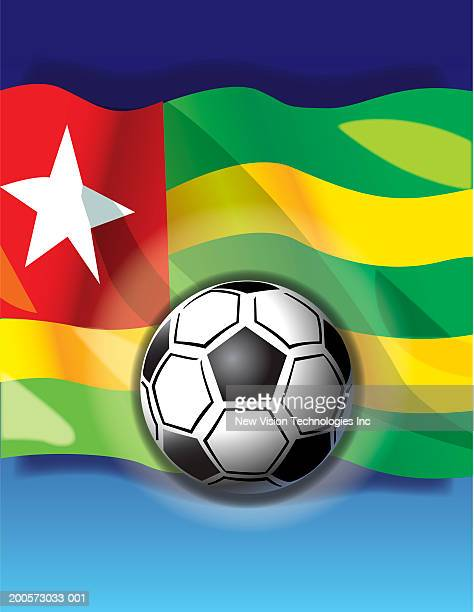 soccer ball and togolese flag - togo stock illustrations, clip art, cartoons, & icons