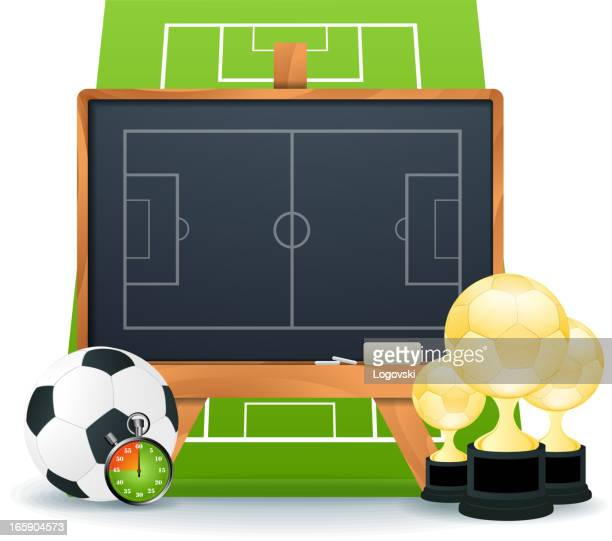ilustraciones, imágenes clip art, dibujos animados e iconos de stock de concepto de fútbol - cancha futbol