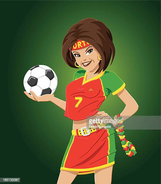 Soccer Fan Portugal Woman