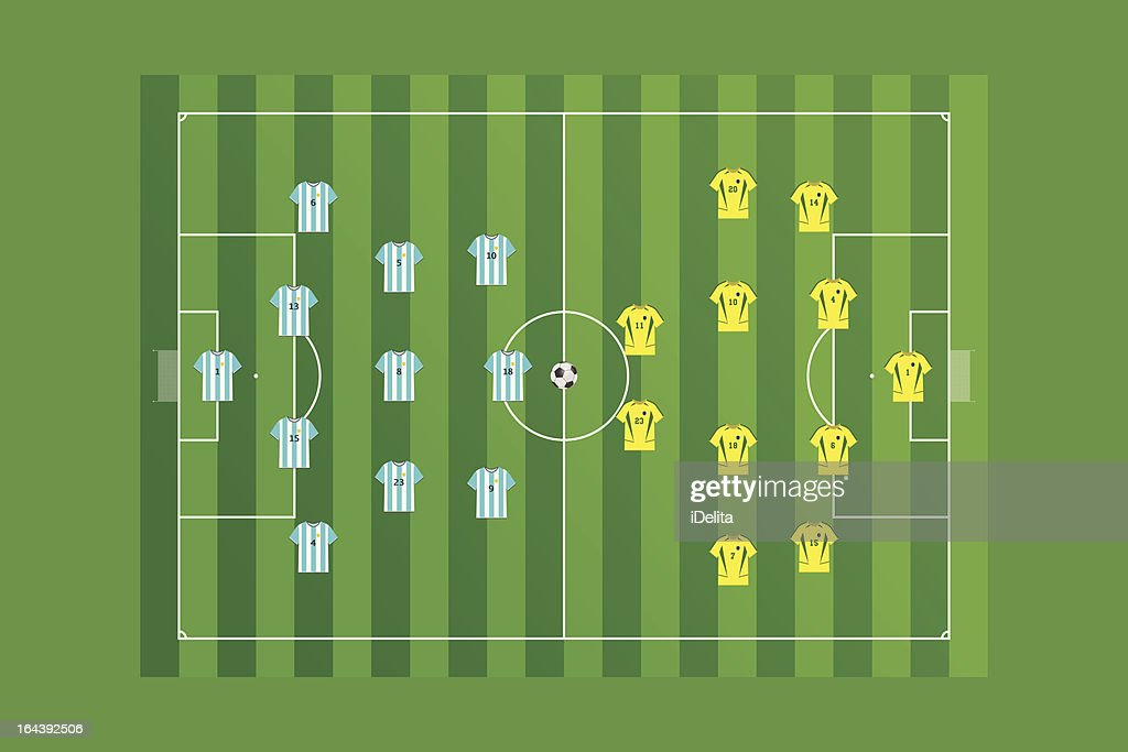 Soccer Field with teams layout.