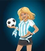 Soccer Girl Argentina