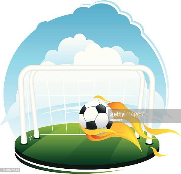 Soccer Goal Scene