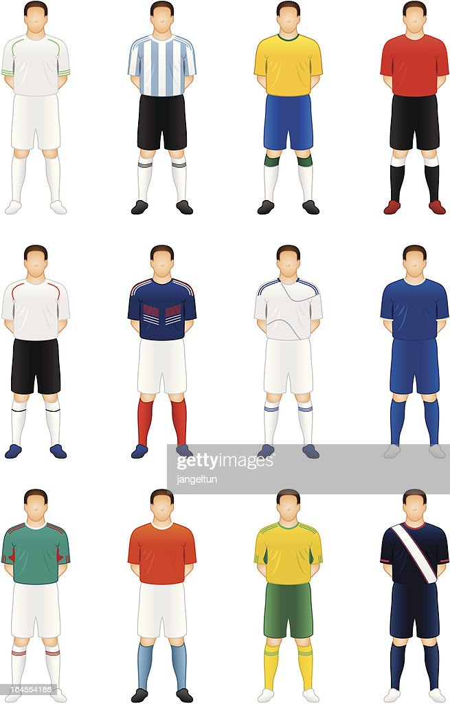Soccer players : stock illustration