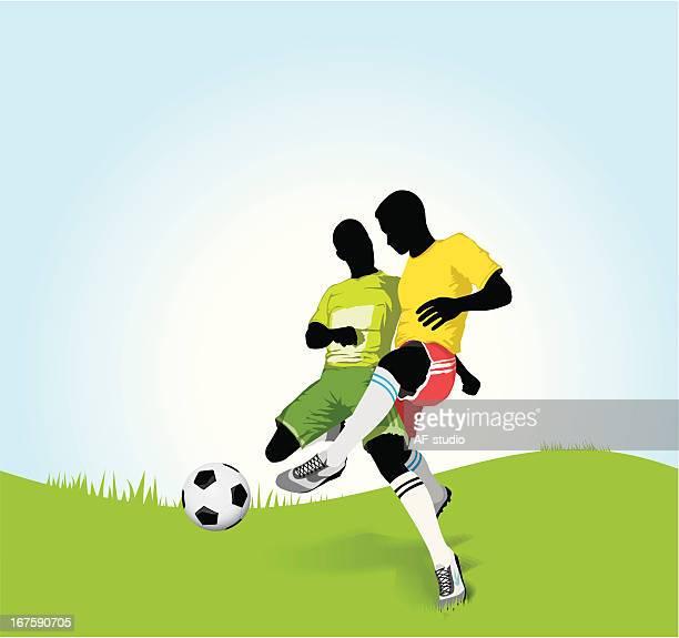 サッカー選手 - アメリカンフットボールのフィールドゴール点のイラスト素材/クリップアート素材/マンガ素材/アイコン素材